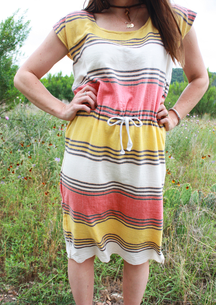 Drawstring Box Dress-One Little Minute Blog-6