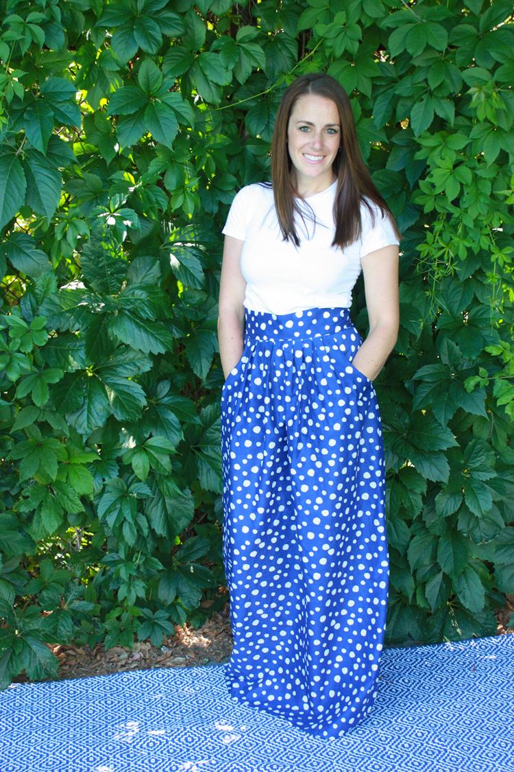 Gleeful Pleated Maxi Skirt-One Little Minute Blog-20