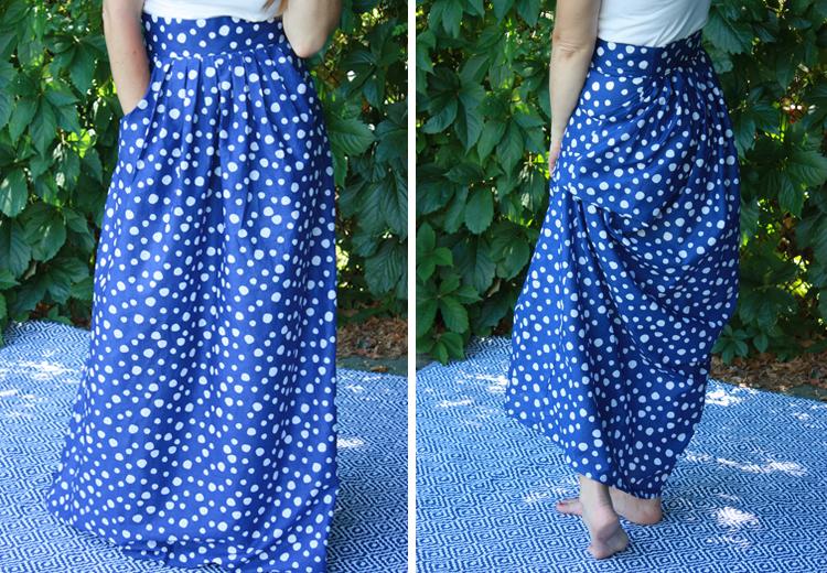 Gleeful Pleated Maxi Skirt-One Little Minute Blog