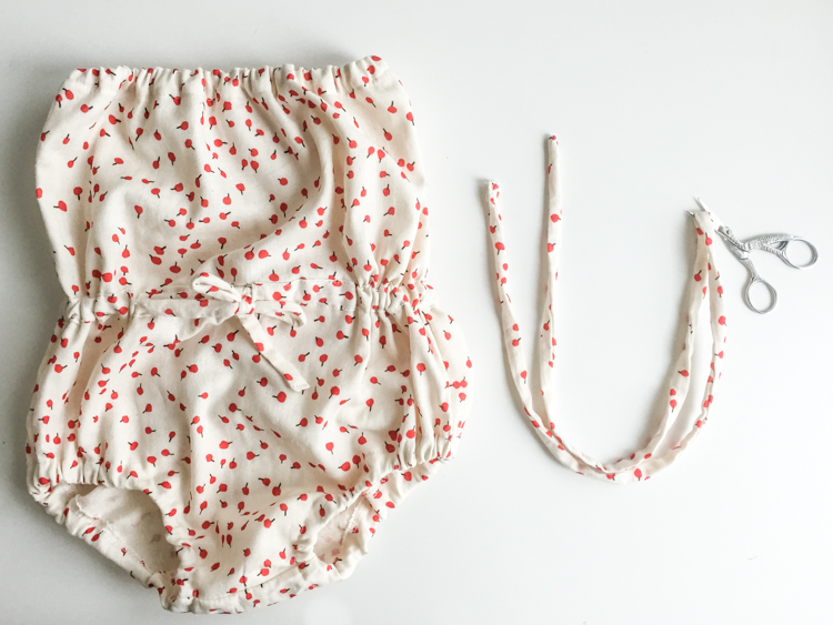 Draw String Romper Tutorial- One Little Minute Blog-16