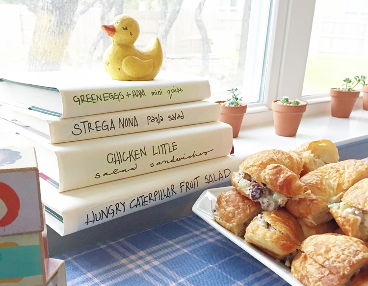 Book Themed Shower Food Lables One Little Minute Blog
