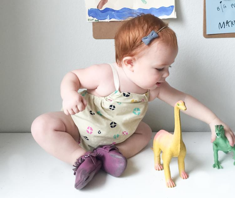 Cross Back Baby Romper-One Little Minute Blog-23