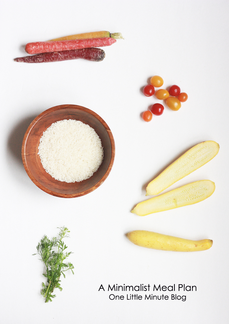 Minimalist Meal Plan-One Little Minute Blog