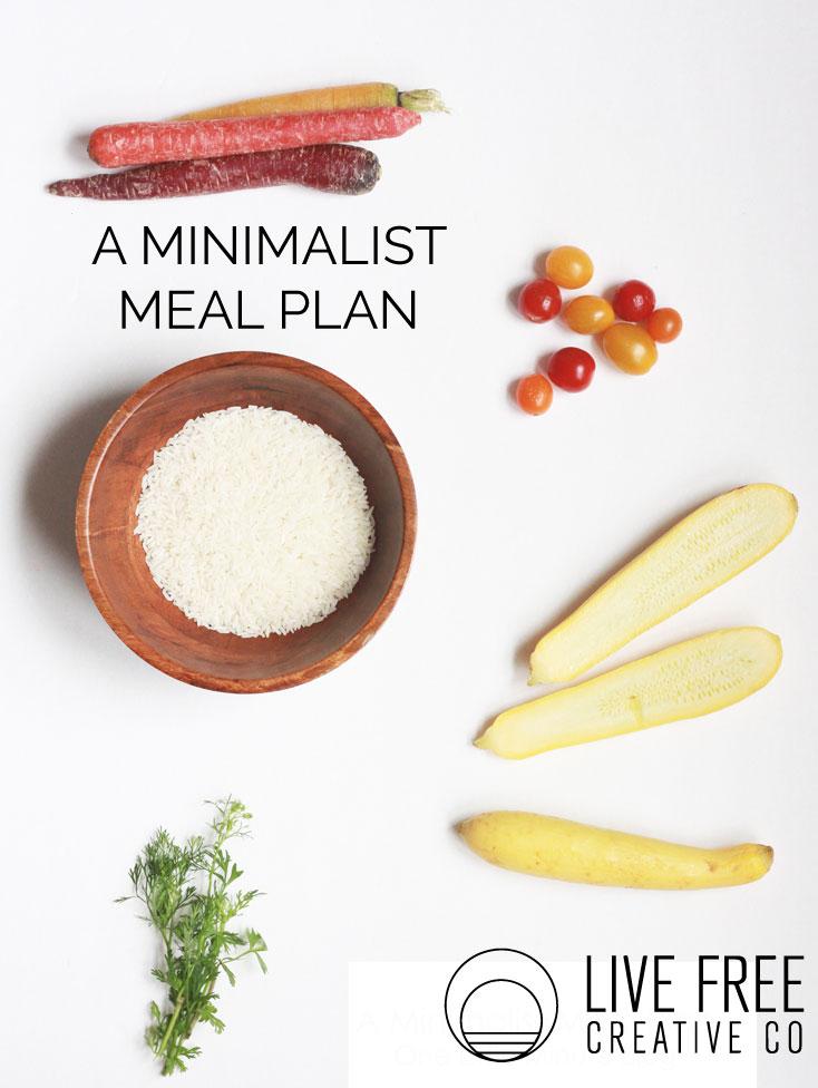A Minimalist Meal Plan-Live Free Creative Co