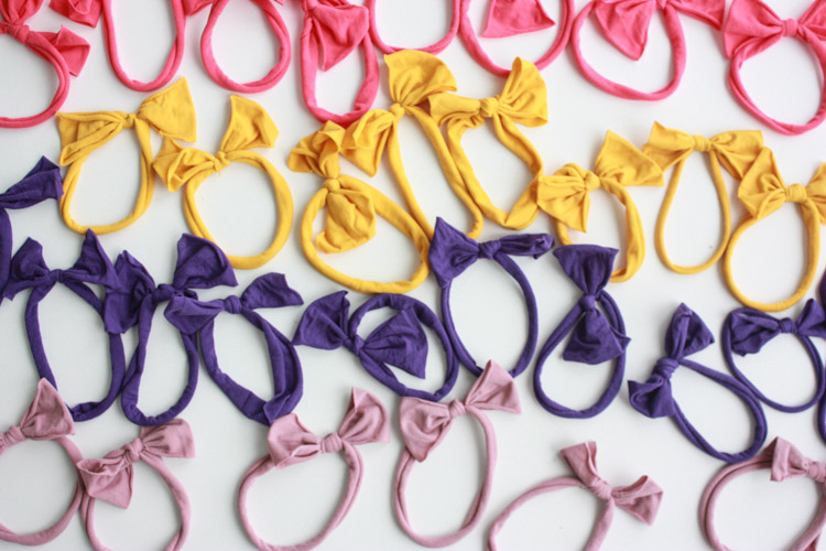 Nylon No Sew Bow-One Little Minute Blog-5