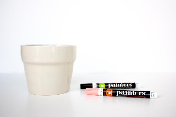 DIY Face Plant Pot -One Little Minute Blog-1