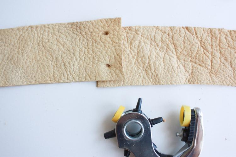 Leather Blanket Strap DIY-One Little Minute Blog-12