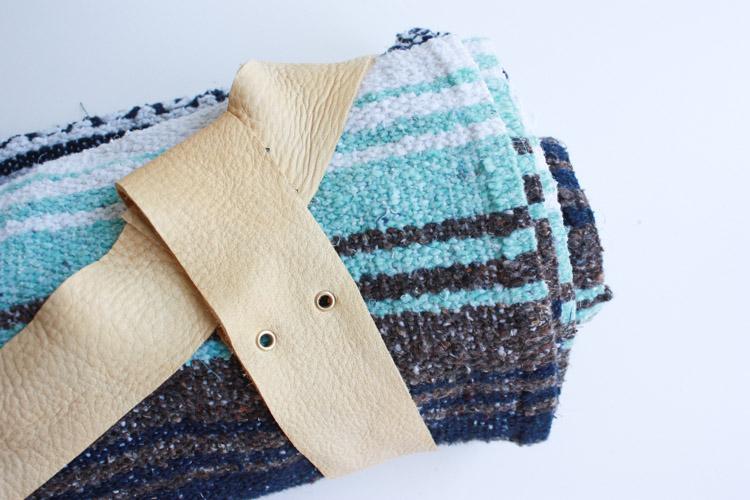 Leather Blanket Strap DIY-One Little Minute Blog-17
