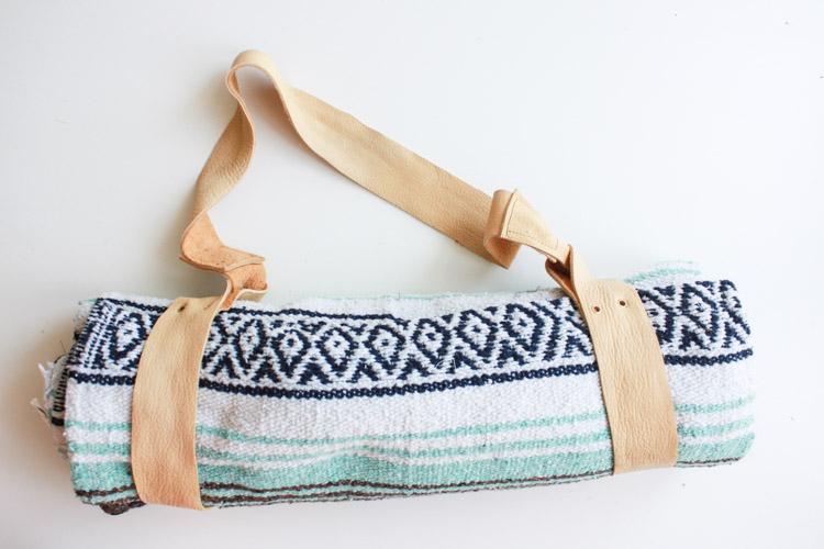 Leather Blanket Strap DIY-One Little Minute Blog-18