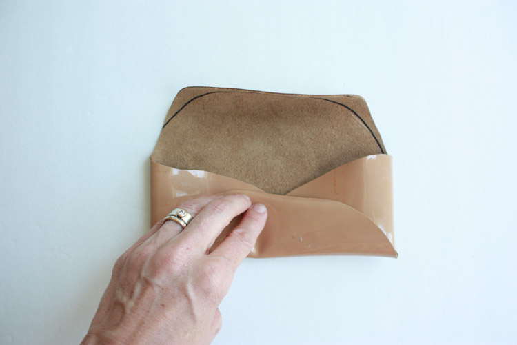 No Sew Leather Glasses Case-One Little Minute Blog-4