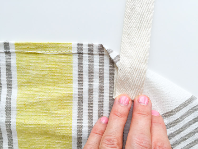 Tea Towel Apron-One Little Minute Blog-7
