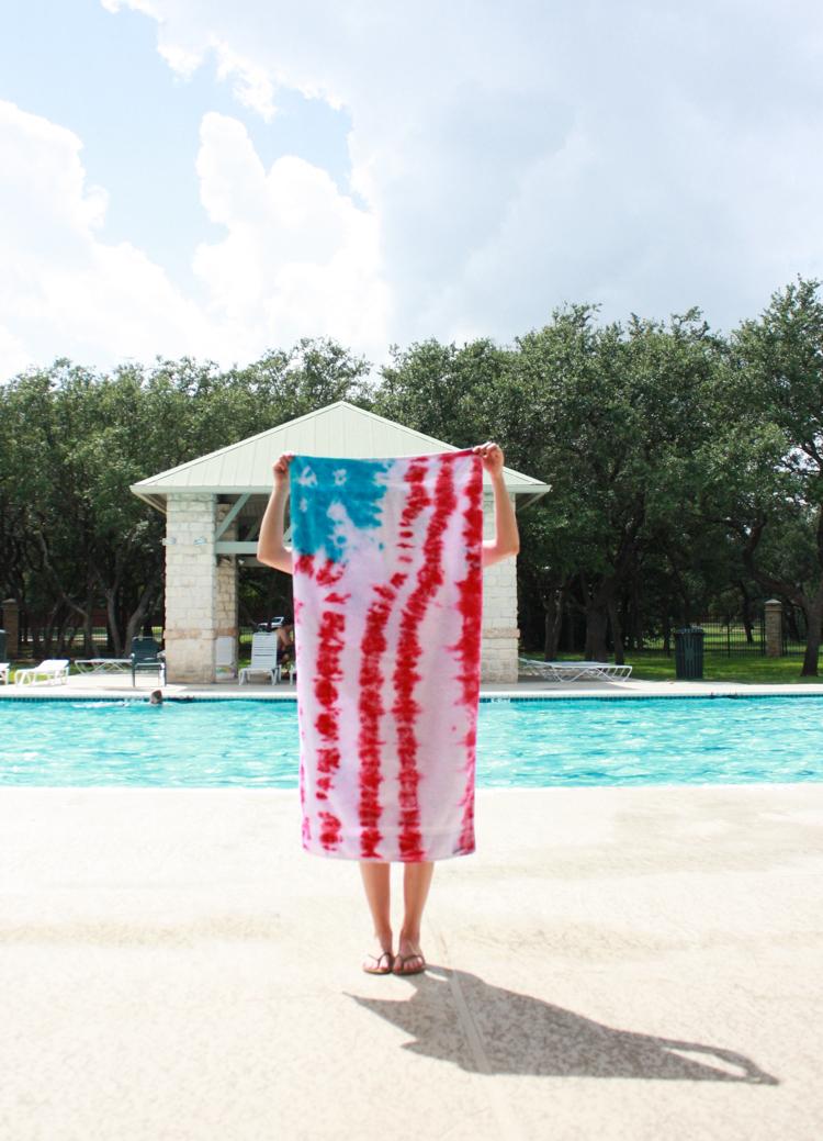 DIY Tie Dye American Flag Towels- One Little Minute-11
