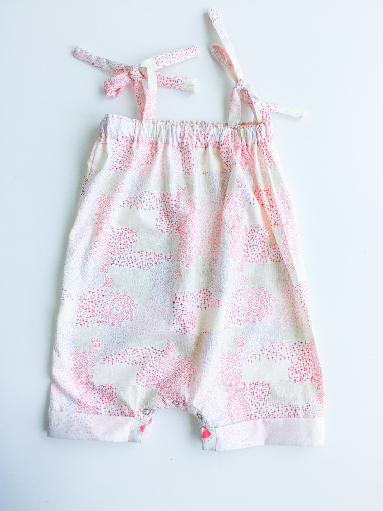 Boxy Baby Romper Diy One Little Minute Blog