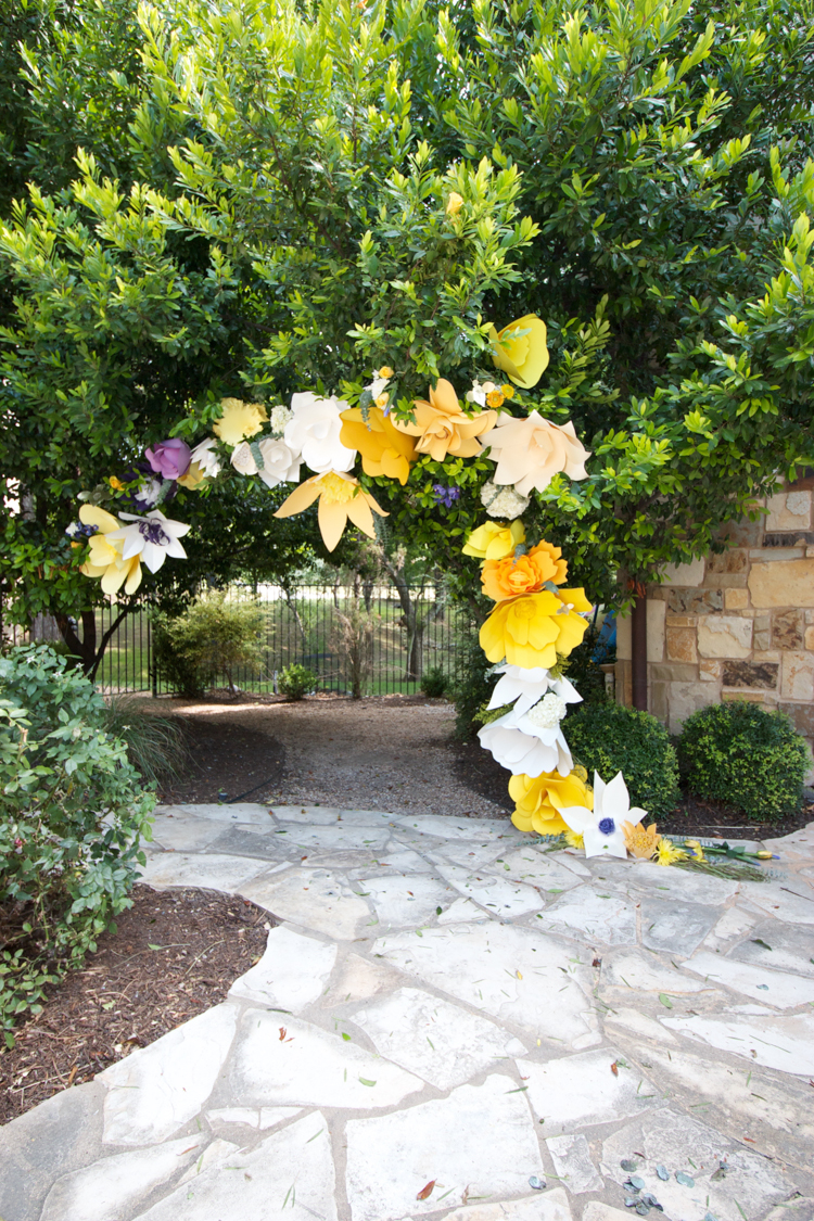 DIY Paper Flower Arch -One Little Minute Blog-10