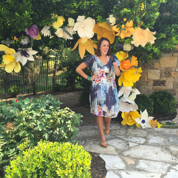 DIY Paper Flower Arch -One Little Minute Blog-15