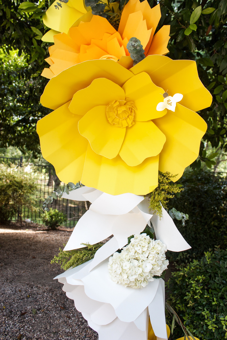 diy giant paper flower arch
