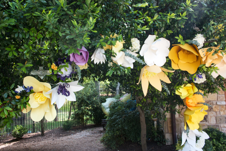 DIY Paper Flower Arch -One Little Minute Blog-26