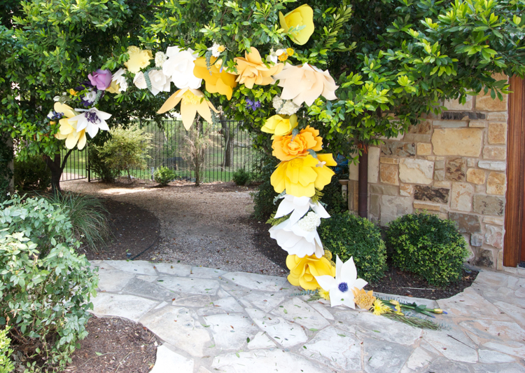 DIY Paper Flower Arch -One Little Minute Blog-29