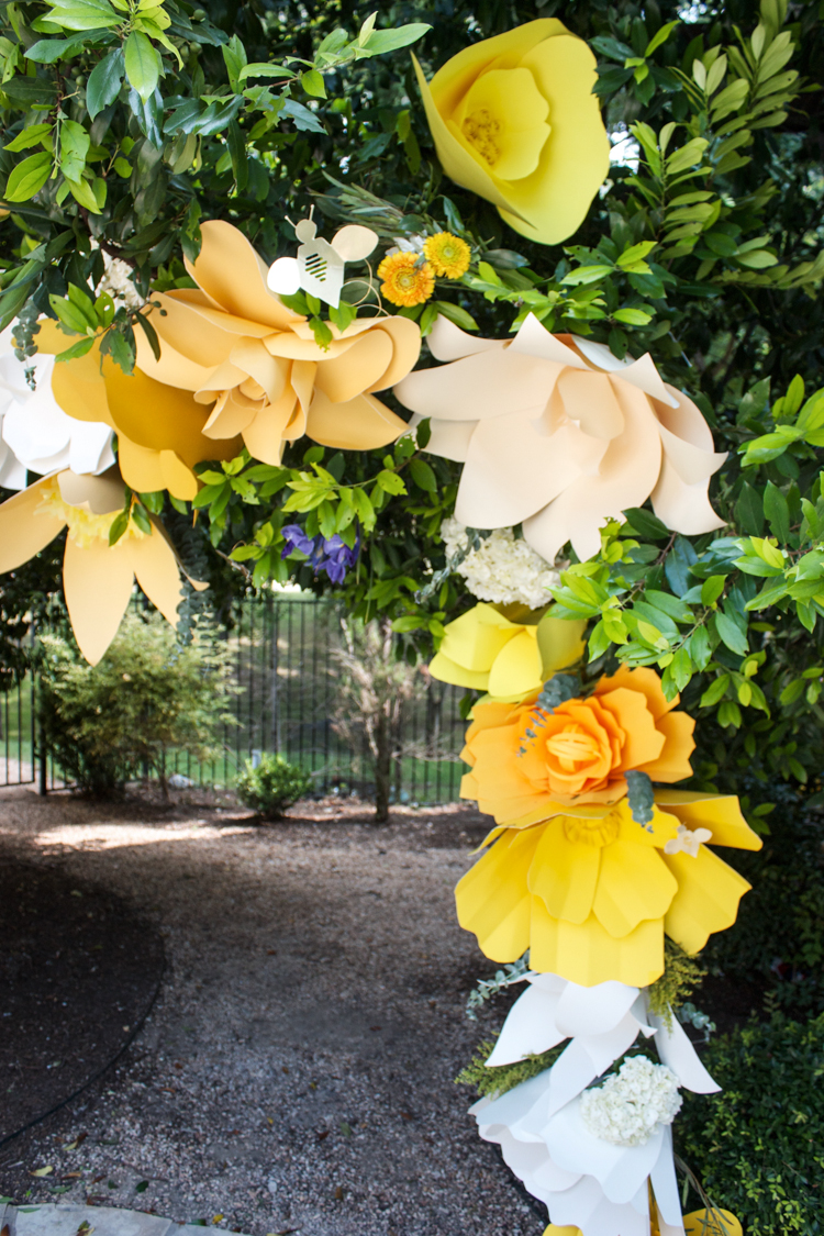 DIY Paper Flower Arch -One Little Minute Blog-3