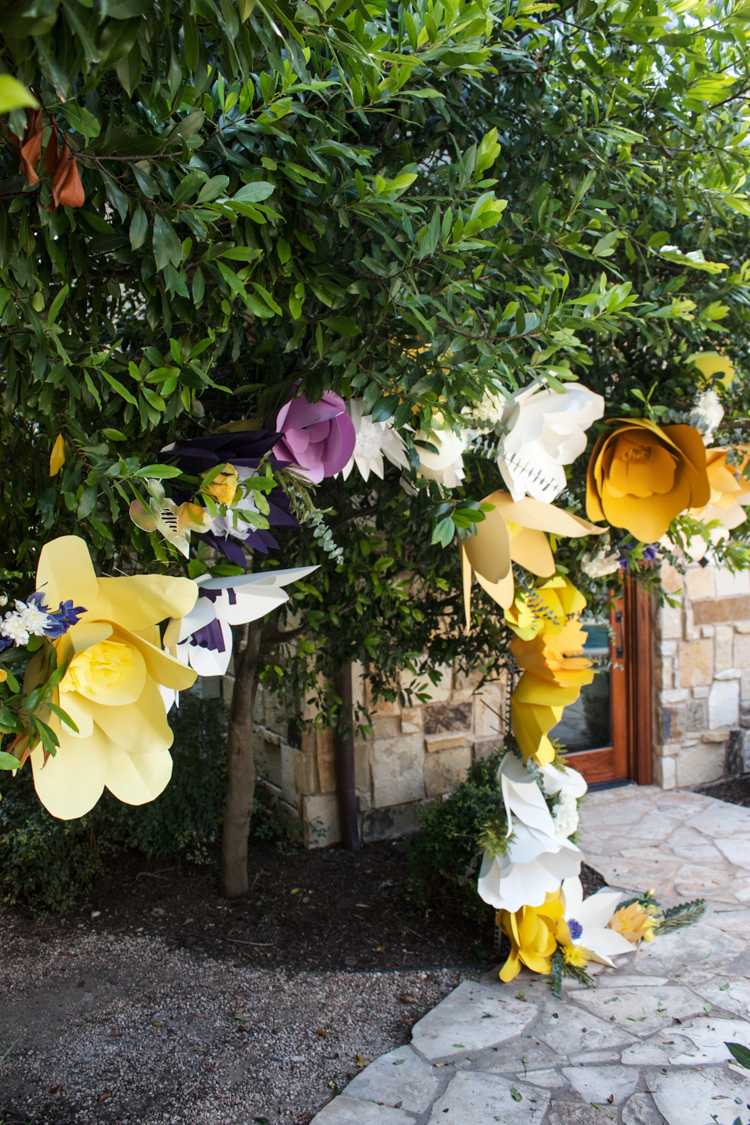 DIY Paper Flower Arch -One Little Minute Blog-4