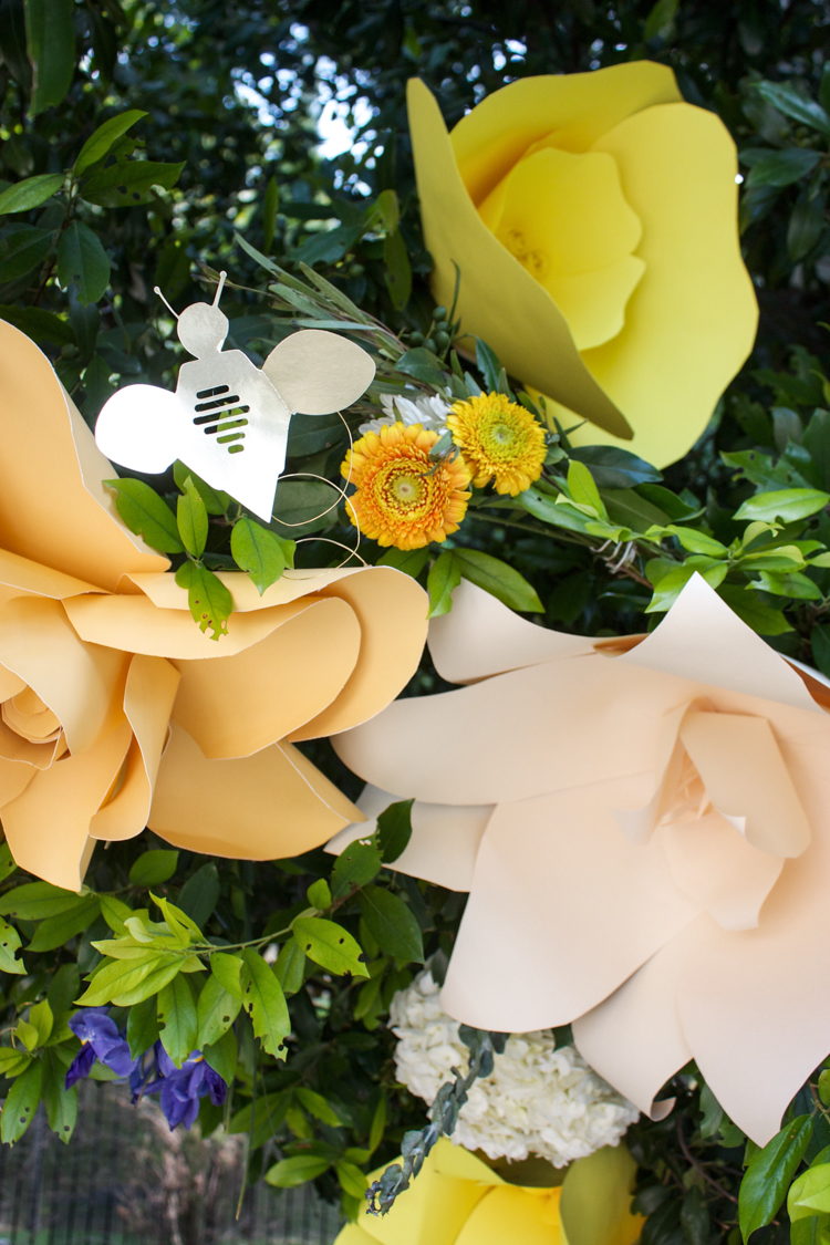 DIY Paper Flower Arch -One Little Minute Blog-6