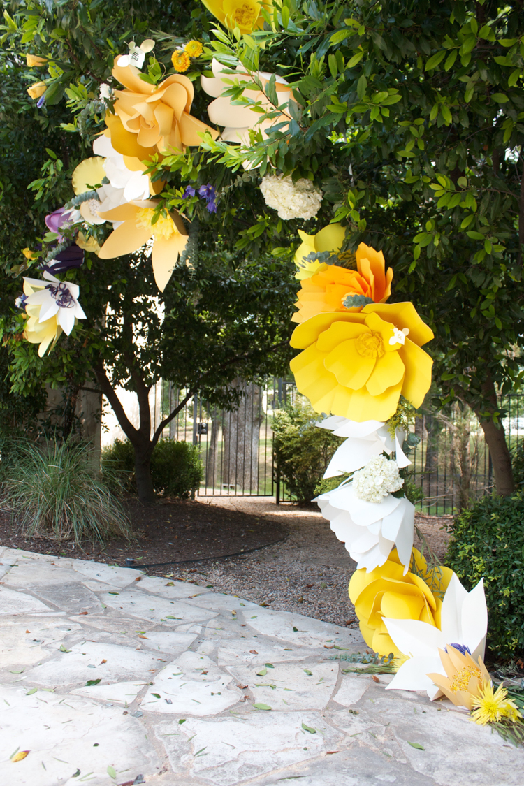 DIY Paper Flower Arch -One Little Minute Blog-9