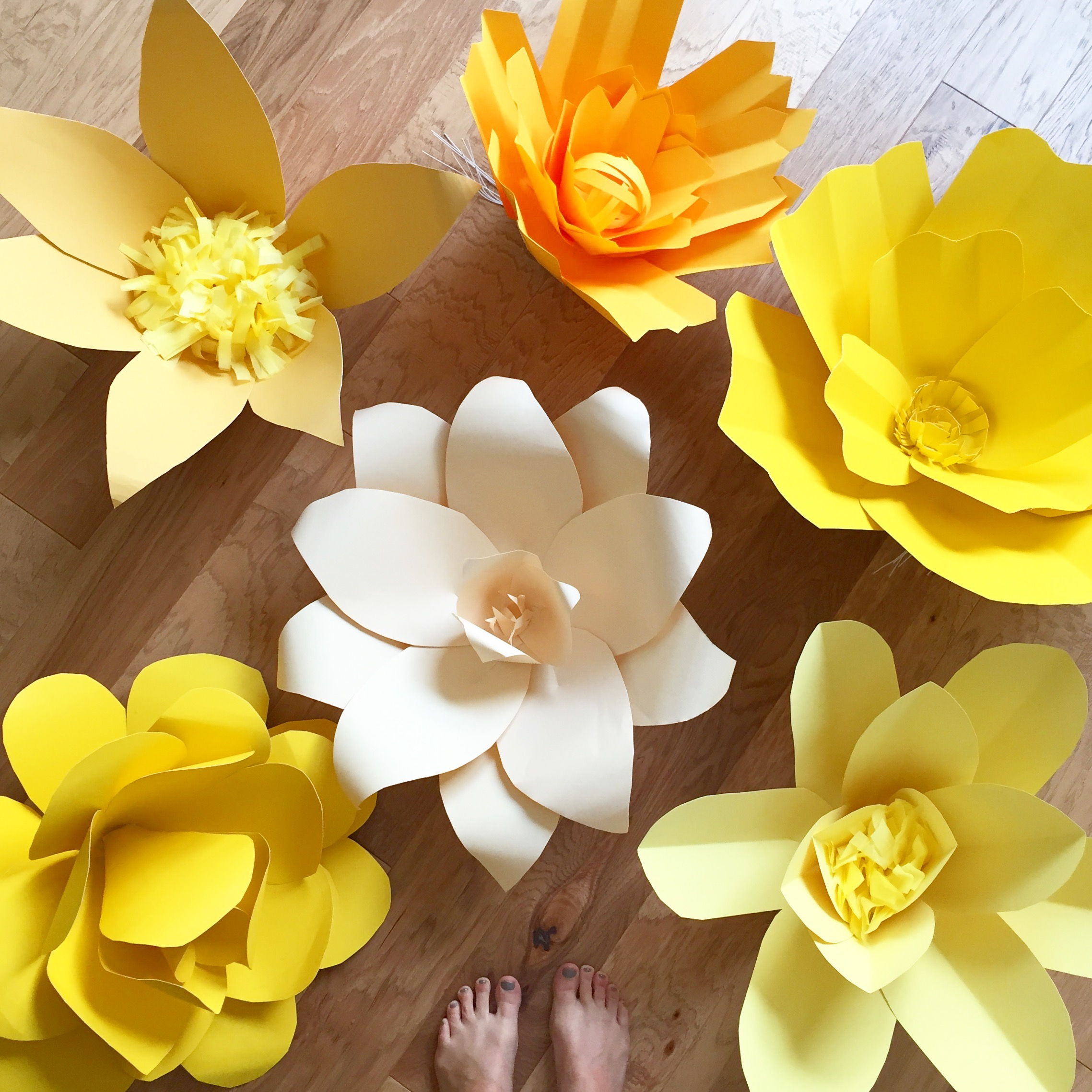 Giant Paper Flowers - One Little Minute Blog