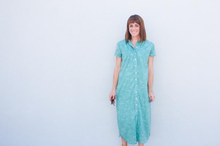 Bound Midi Shirt Dress-10