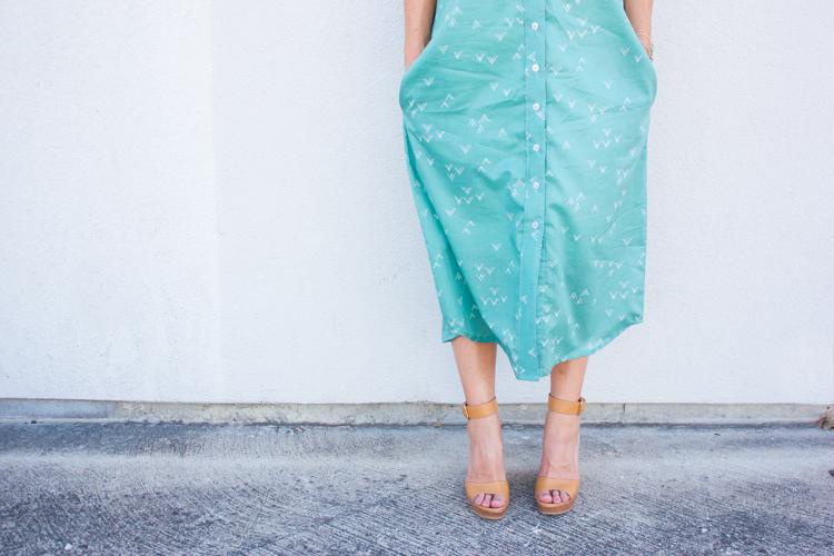Bound Midi Shirt Dress-12