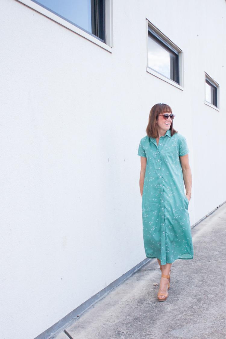 Bound Midi Shirt Dress-1