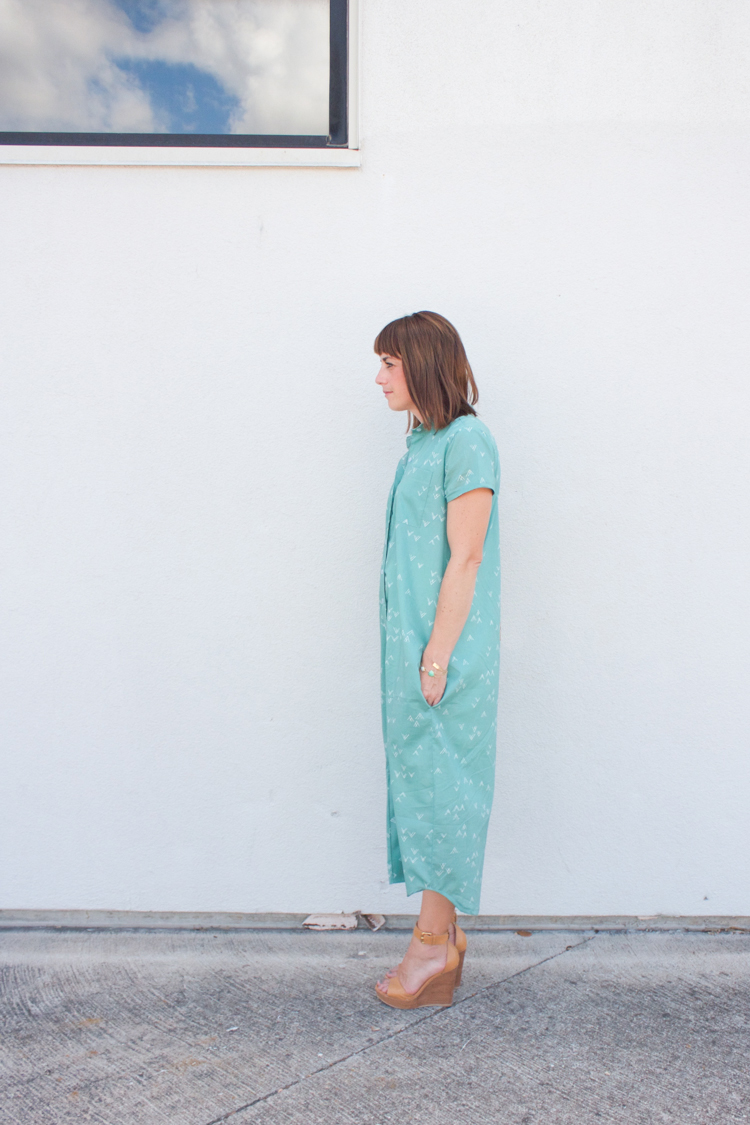 Bound Midi Shirt Dress-3