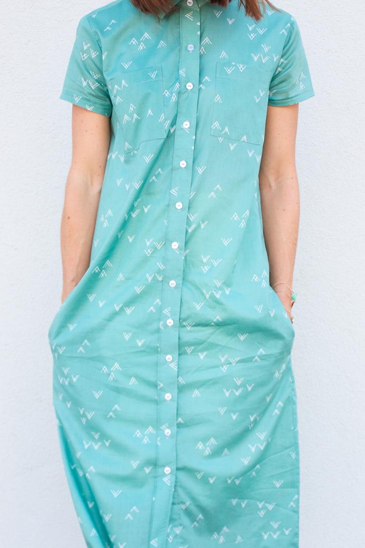 Bound Midi Shirt Dress-7