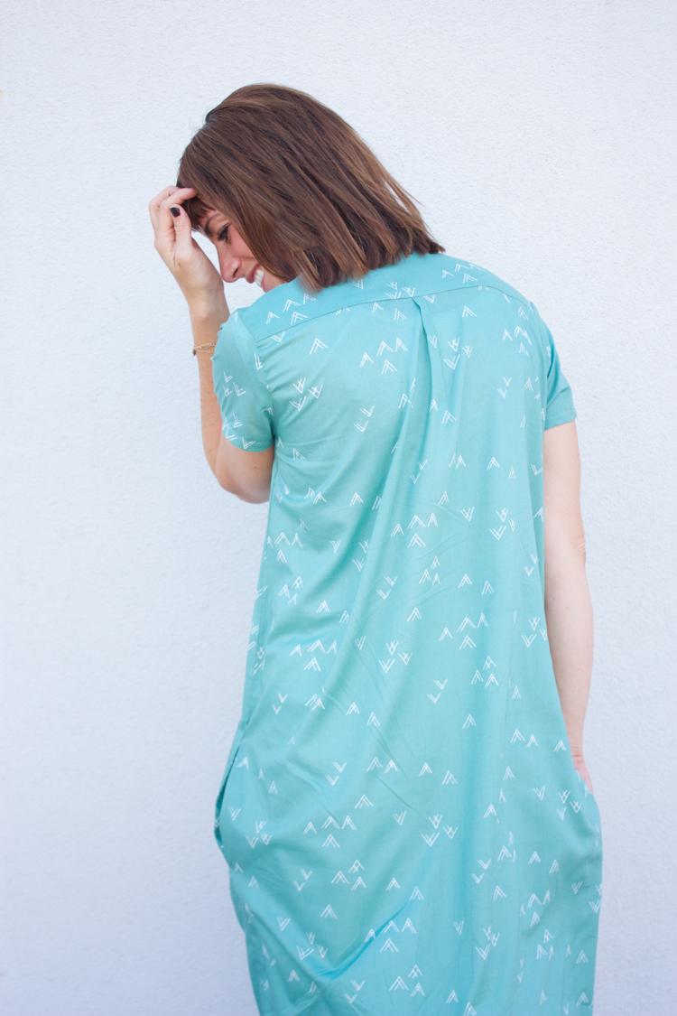 Bound Midi Shirt Dress-8