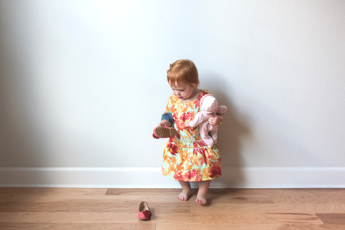 Chambray and Floral Dress-5