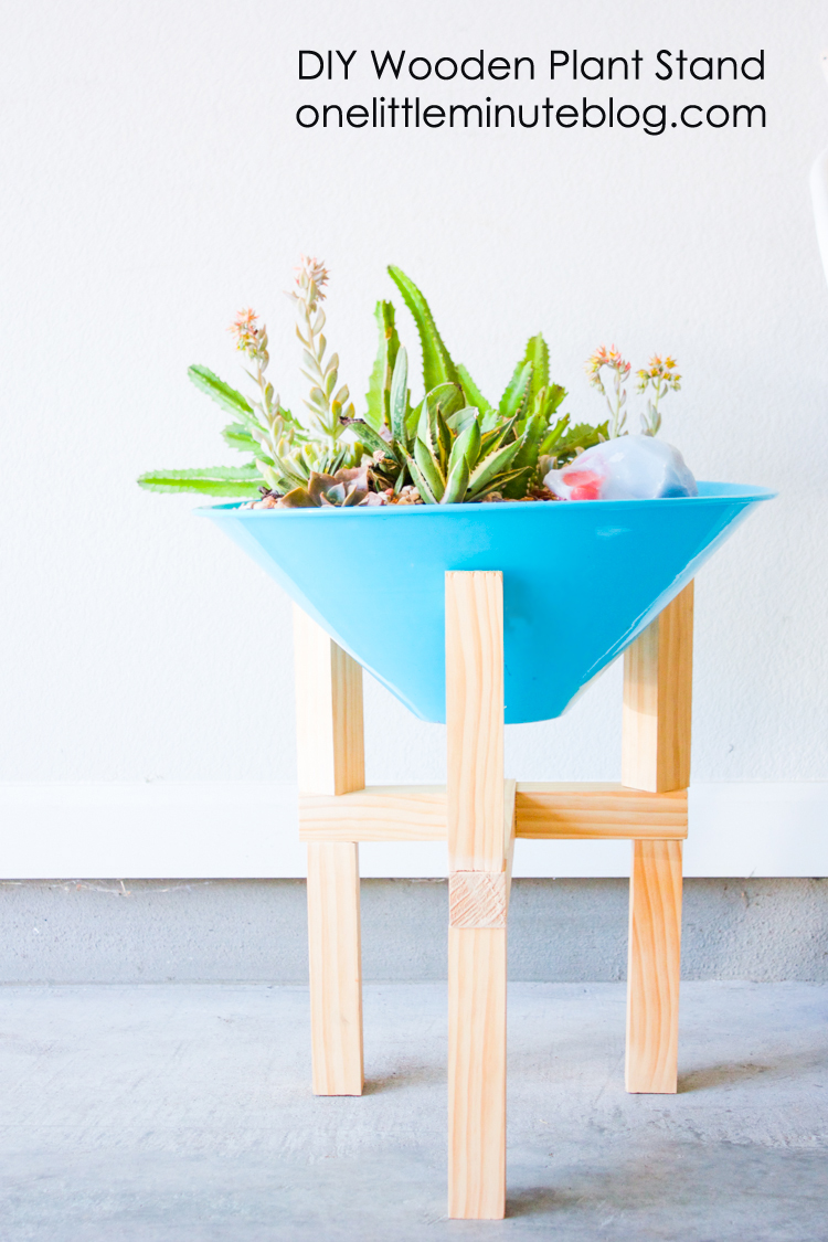 DIY Wooden Plant Stand-16