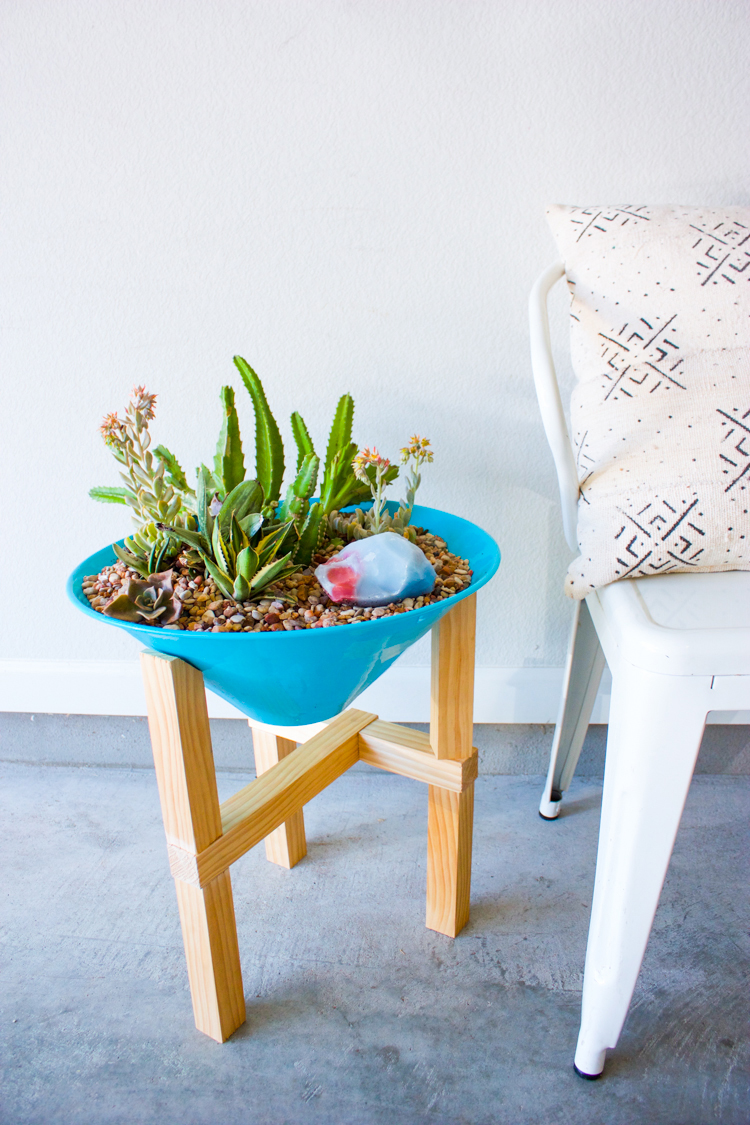 DIY Wooden Plant Stand-21