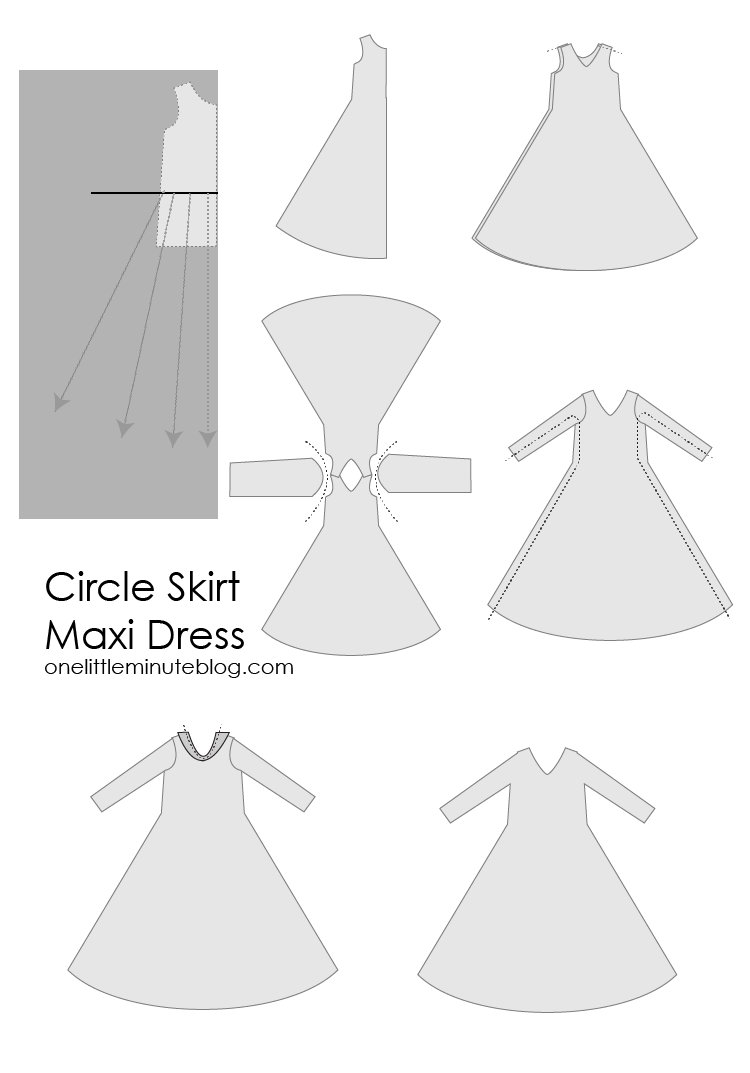 Circle Skirt Maxi Dress-One Little Minute Blog-08
