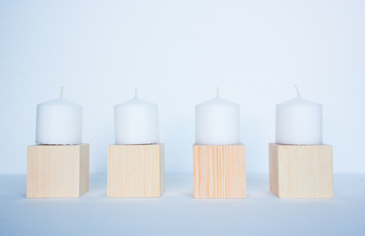DIY Wood Block Candlesticks-10