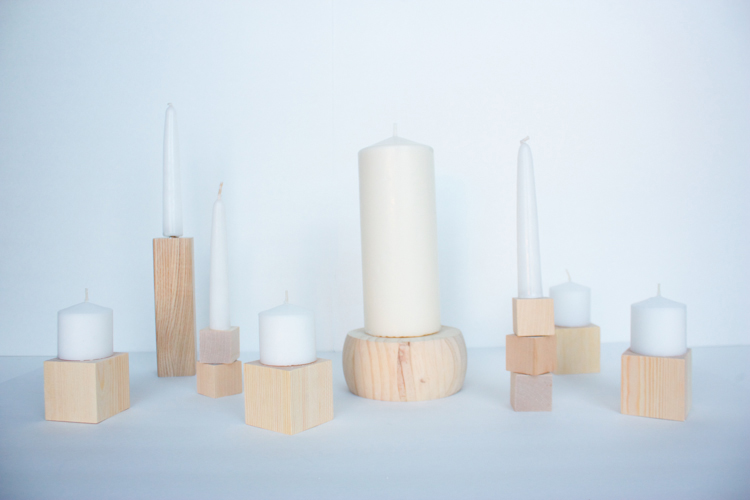 DIY Wood Block Candlesticks-15