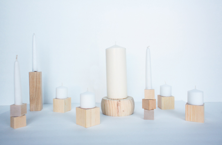 DIY Wood Block Candlesticks-16