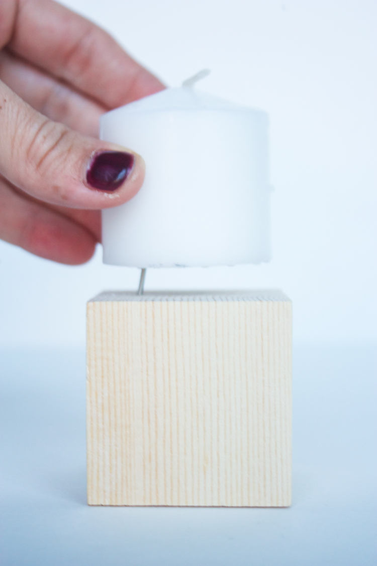 DIY Wood Block Candlesticks-20