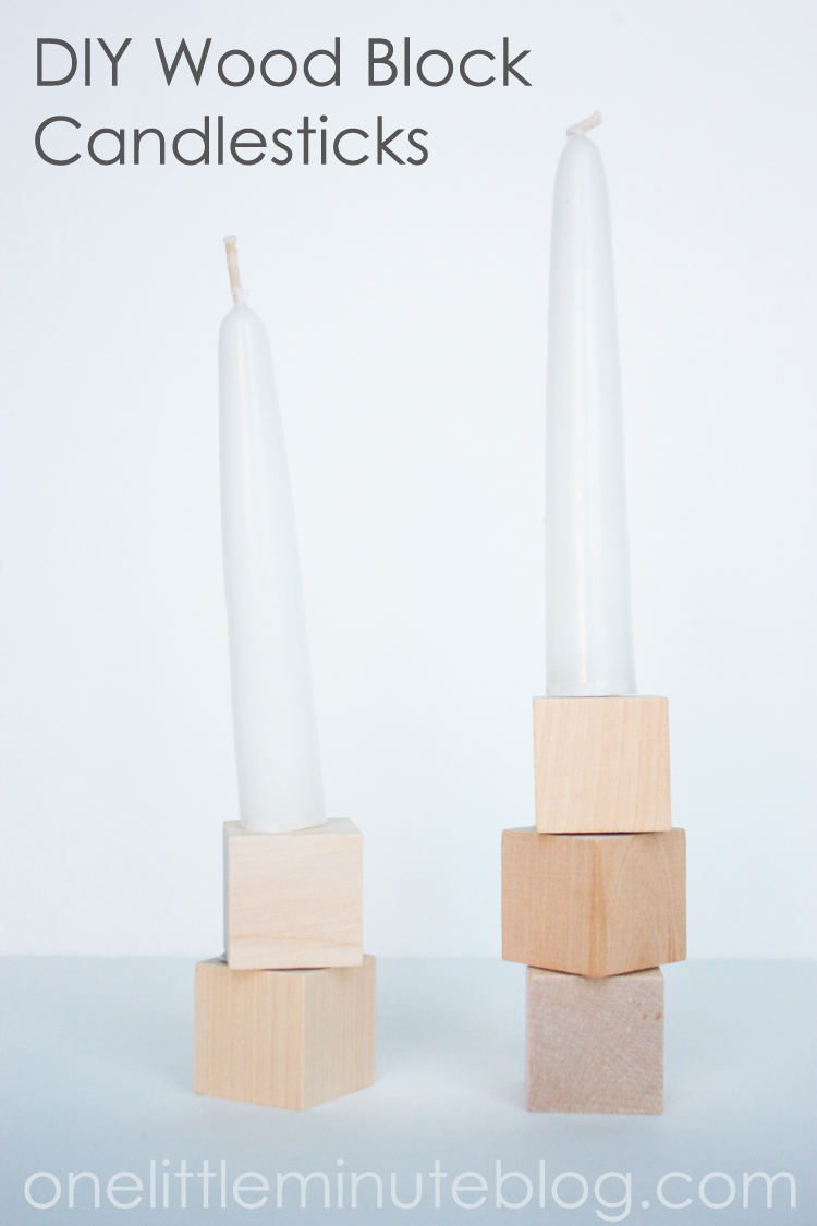 DIY Wood Block Candlesticks-21