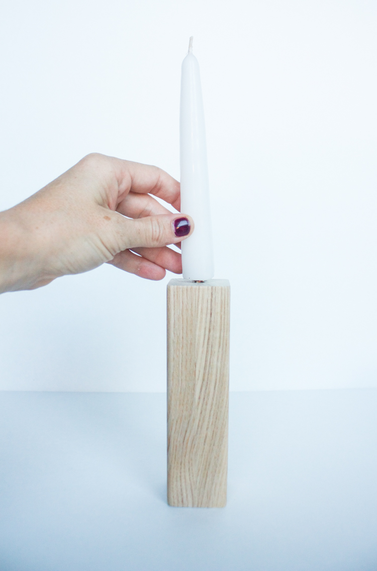DIY Wood Block Candlesticks-22
