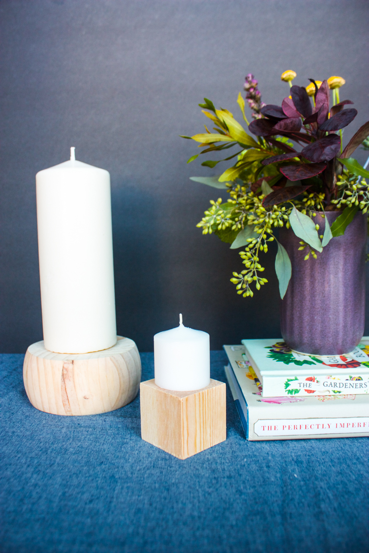 DIY Wood Block Candlesticks-24