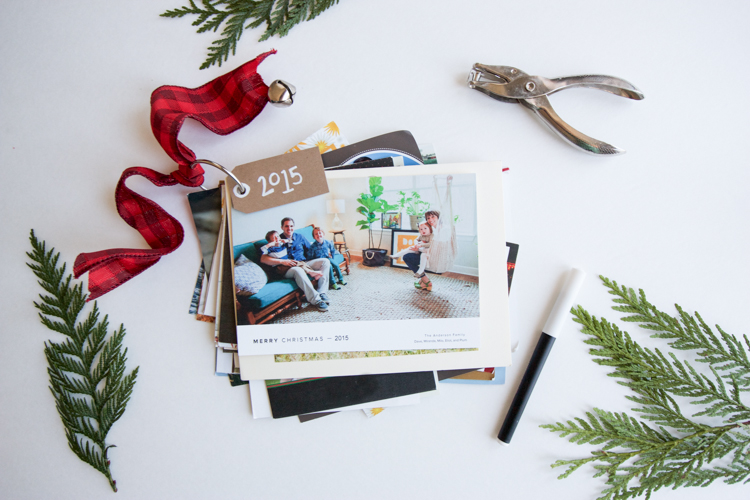 Christmas Cards + DIY Card Rings- One Little Minute Blog-5