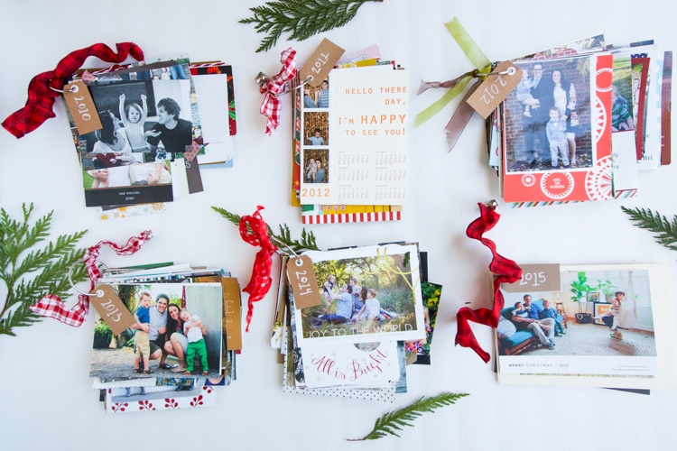 Christmas Cards + DIY Card Rings- One Little Minute Blog-7