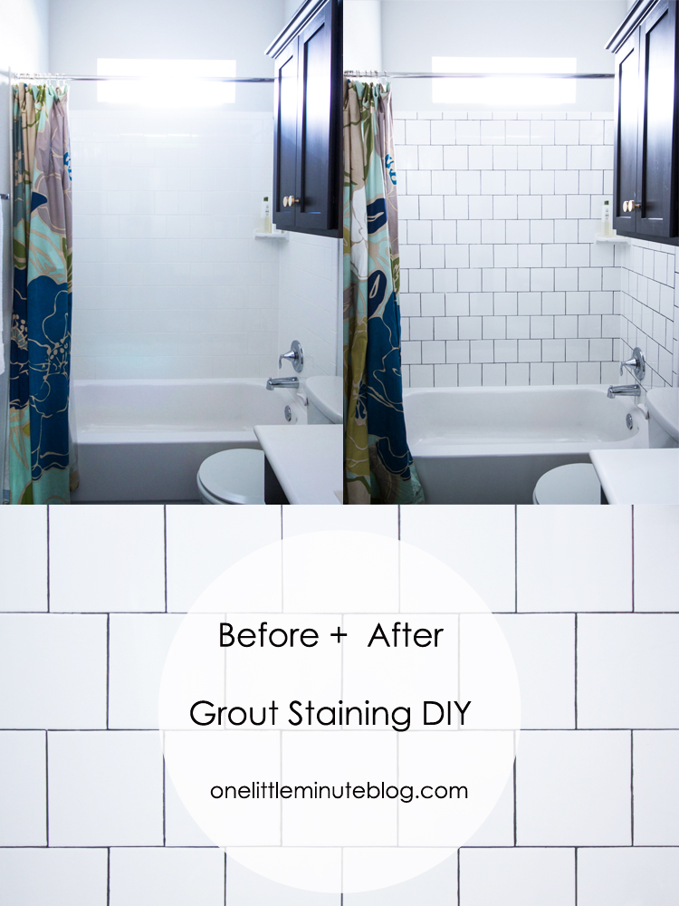 Staining Tile Grout DIY - Live Free Creative Co