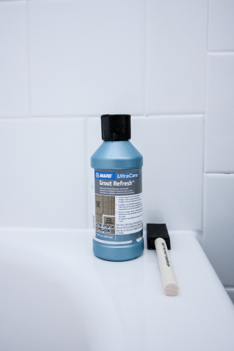DIY Grout Staining- One Little Minute Blog-5