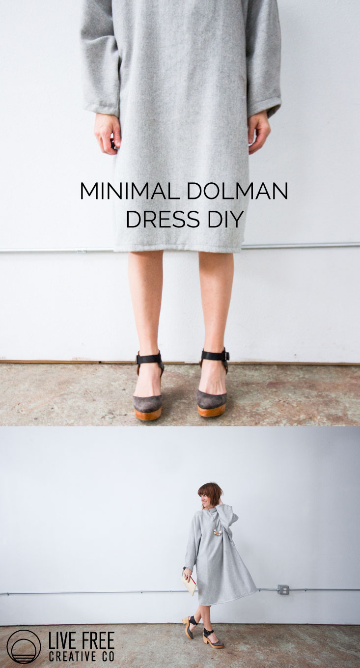Minimal Dolman Dress DIY | Live Free Creative Co