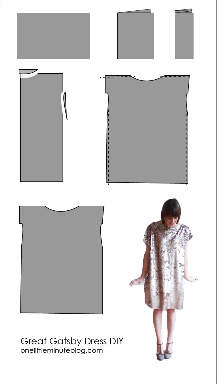 Great Gatsby Dress DIY - One Little Minute Blog